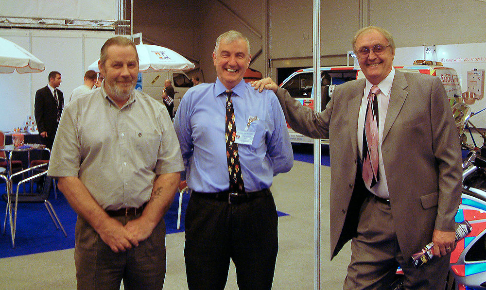 Stuart Histead, Chris Cox, and Andy Lambert at the two show 2005