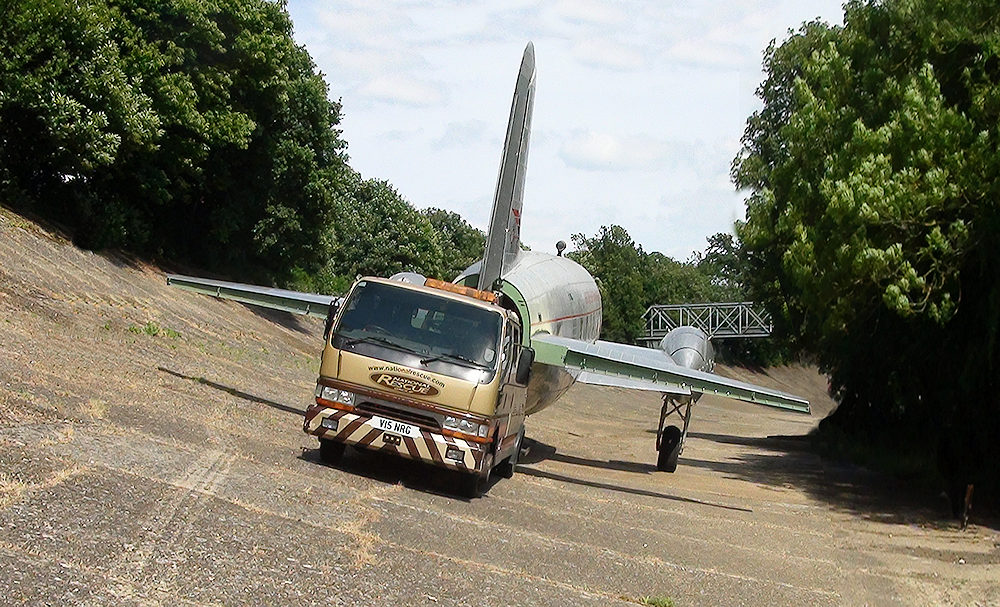 National Rescue recovering a Vickers Viking at Brooklands